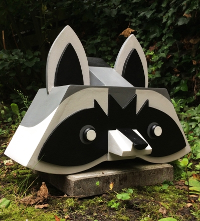 raccoon sculpture